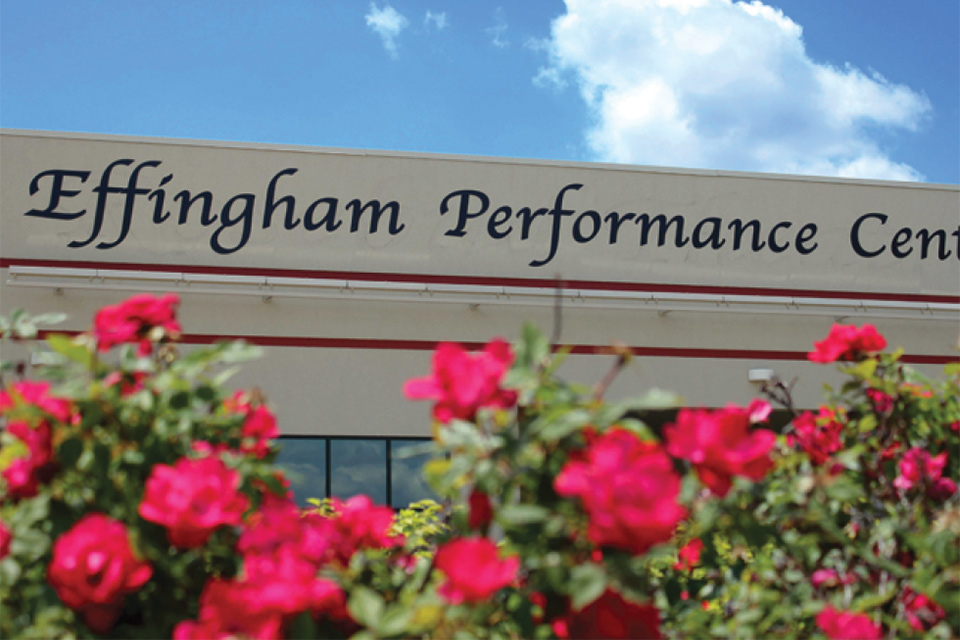 exterior of Effingham Performance Center